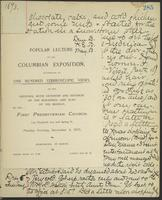 Occluded Image of May Bragdon Diary, December 3, 1893 – December 5, 1893, p. 285