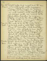 May Bragdon Diary, November 10, 1905 – November 12, 1905, p. 72