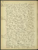 May Bragdon Diary, November 16, 1905 – November 18, 1905, p. 74