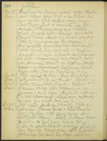 May Bragdon Diary, November 25, 1906 – November 28, 1906, p. 216