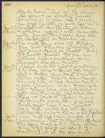 May Bragdon Diary, January 20, 1909 – January 24, 1909, p. 160