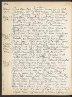 May Bragdon Diary, May 3, 1909 – May 8, 1909, p. 182