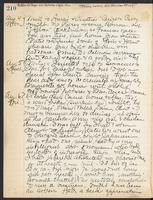 May Bragdon Diary, August 4, 1909 – August 6, 1909, p. 210
