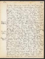 May Bragdon Diary, August 10, 1909 – August 14, 1909, p. 213