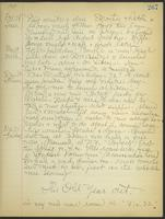 May Bragdon Diary, December 28, 1909 – December 31, 1909, p. 267