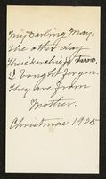 Inclusion, May Bragdon Diary, December 17, 1905 – December 23, 1905, p. 82