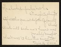 Inclusion, May Bragdon Diary, January 23, 1896 – January 24, 1896, p. 285