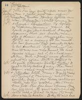 May Bragdon Diary, January 10, 1899 – January 15, 1899, p. 14