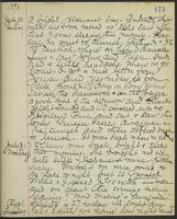 May Bragdon Diary, July 30, 1893 – August 1, 1893, p. 171