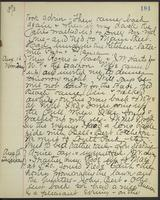 May Bragdon Diary, August 13, 1893 – August 15, 1893, p. 181