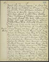 May Bragdon Diary, August 19, 1893 – August 20, 1893, p. 185