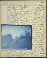 Occluded Image of May Bragdon Diary, August 30, 1893 – September 1, 1893, p. 217