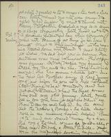 May Bragdon Diary, October 8, 1893 – October 9, 1893, p. 243